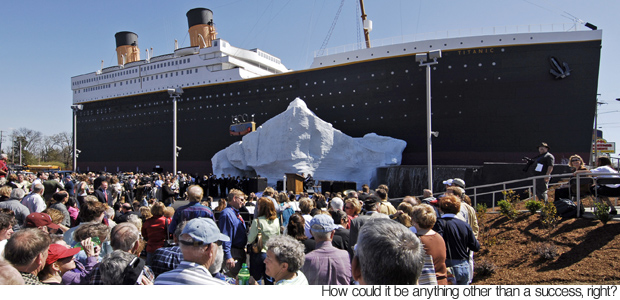foto Muzium Titanic - Replika Kapal