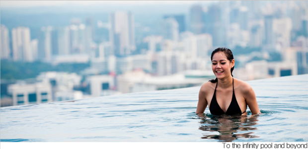Infinity pool on 55th floor of Singapore hotel - Odd News | newslite ...