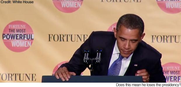 Obama Presidential Speech Obama Was Mid-speech as he