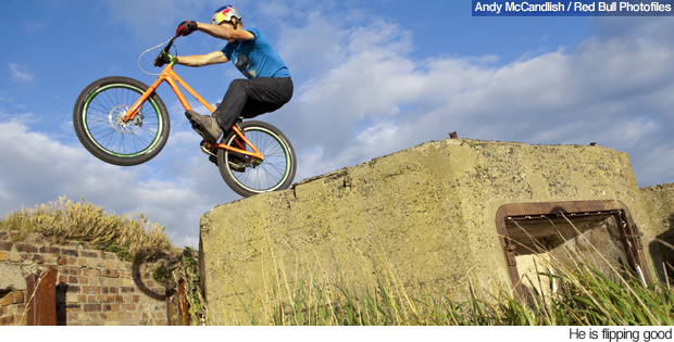 Bike Tricks Youtube A stunt mountain biker who