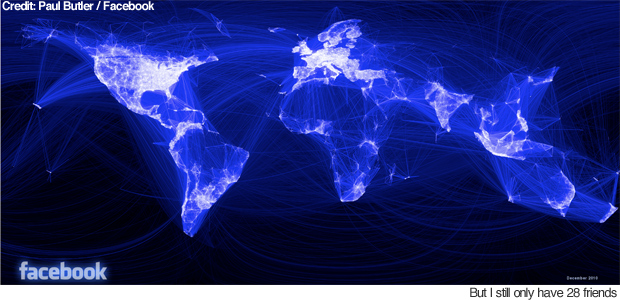 facebook social connections map